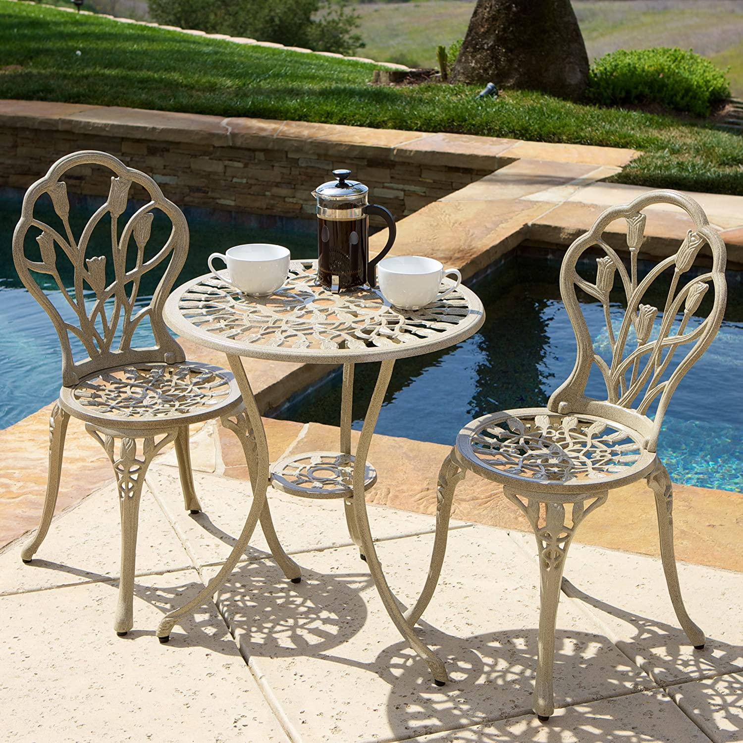 Christopher Knight Home 217184 Nassau Sand Bistro Set