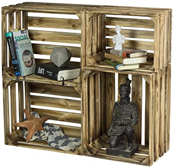 458a332f164428 LAUBLUST 4er Set Vintage Holzkisten - Kisten in 2 Größen