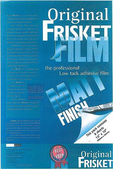 confezione da 8 pezzi Frisket 381 x 254 mm a bassa adesivit/à