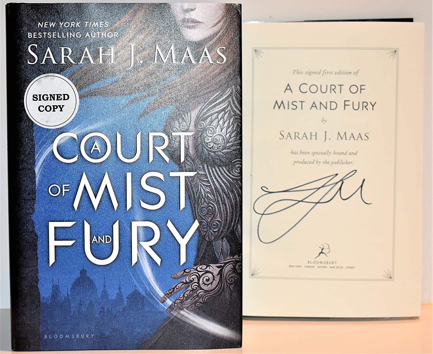 A Court of Mist and Fury AUTOGRAPHED by Sarah J. Maas (SIGNED BOOK) Signed Edition