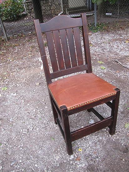 Groovy Amazon Com Antique Ljg Stickley Early Dining Chair Creativecarmelina Interior Chair Design Creativecarmelinacom