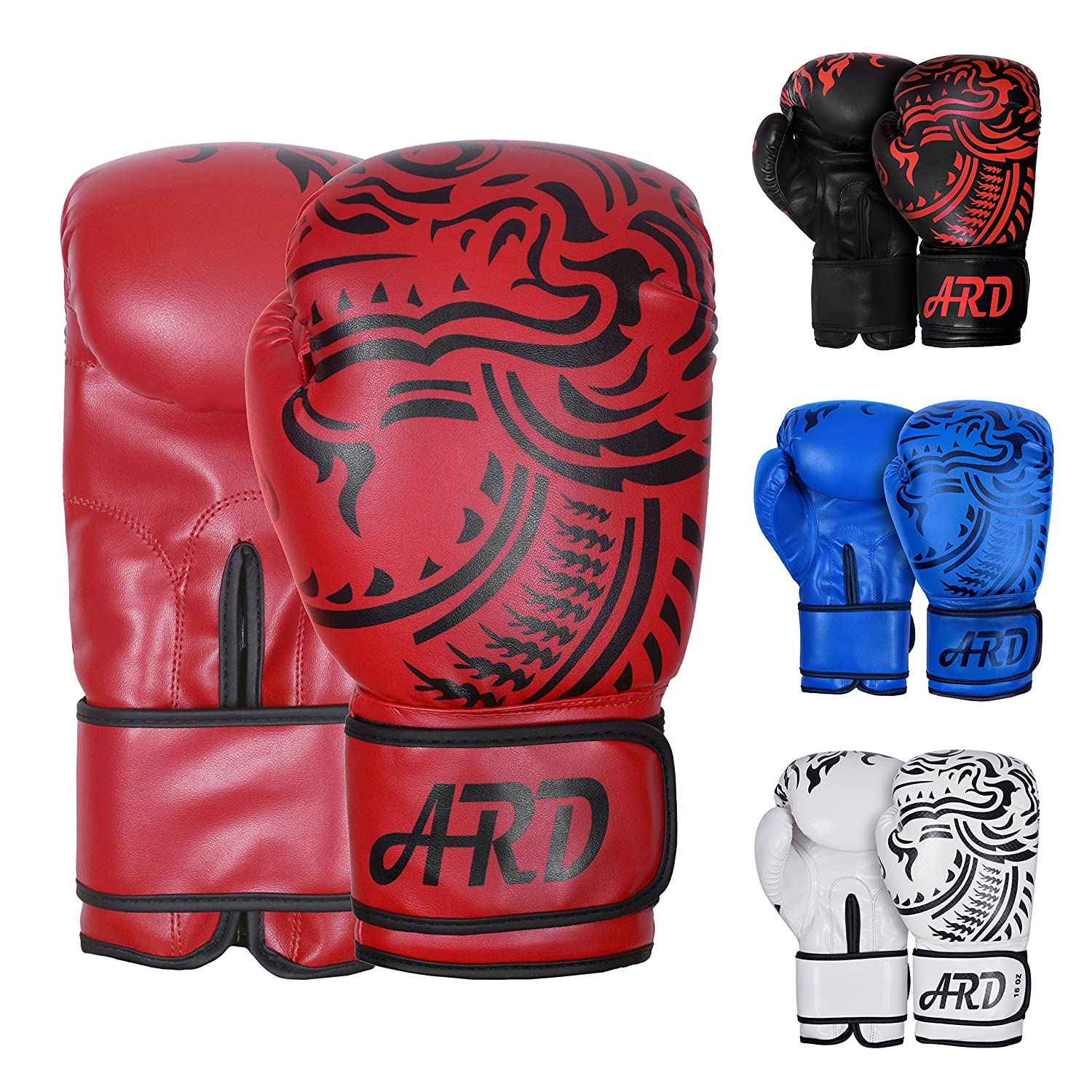 ARD Boxing Gloves Art Leather Punch Training Sparring Kickboxing MMA Fighting Tiger Model