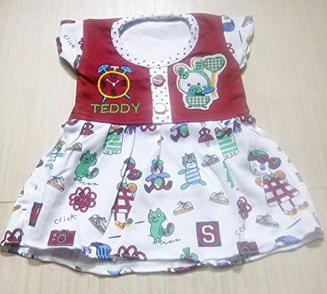 815dcdbbb Buy Bloom Baby Teddy Bear Frock for Girls - Red Online at Low Prices ...