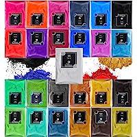 Mica Powder for Epoxy Resin - 25 Colours Pearlescent Natural Metallic Cosmetic Grade TECHAROOZ Color Pigment Powder Dye…