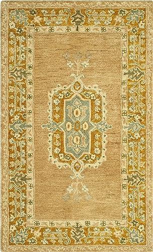 Safavieh Taj Mahal Collection TJM123A Handmade Traditional Antique Rose and Cork Wool Area Rug 5 6 x 8 6