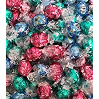Lindt Lindor Chocolate Truffles 3 Flavors Pastel colors, Box of 60 Truffles, Perfect For Easter
