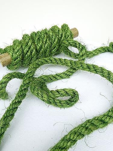 Amazon com: 100' Green Sisal Rope, Dyed Avocado Color, (1/4