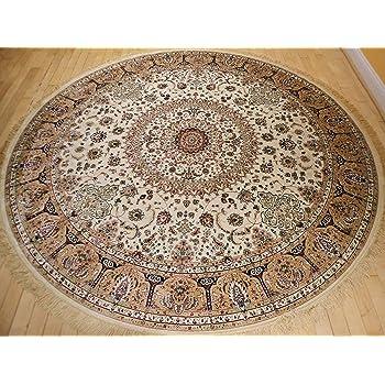 Amazon Com Stunning Silk Rug Persian Traditional Area
