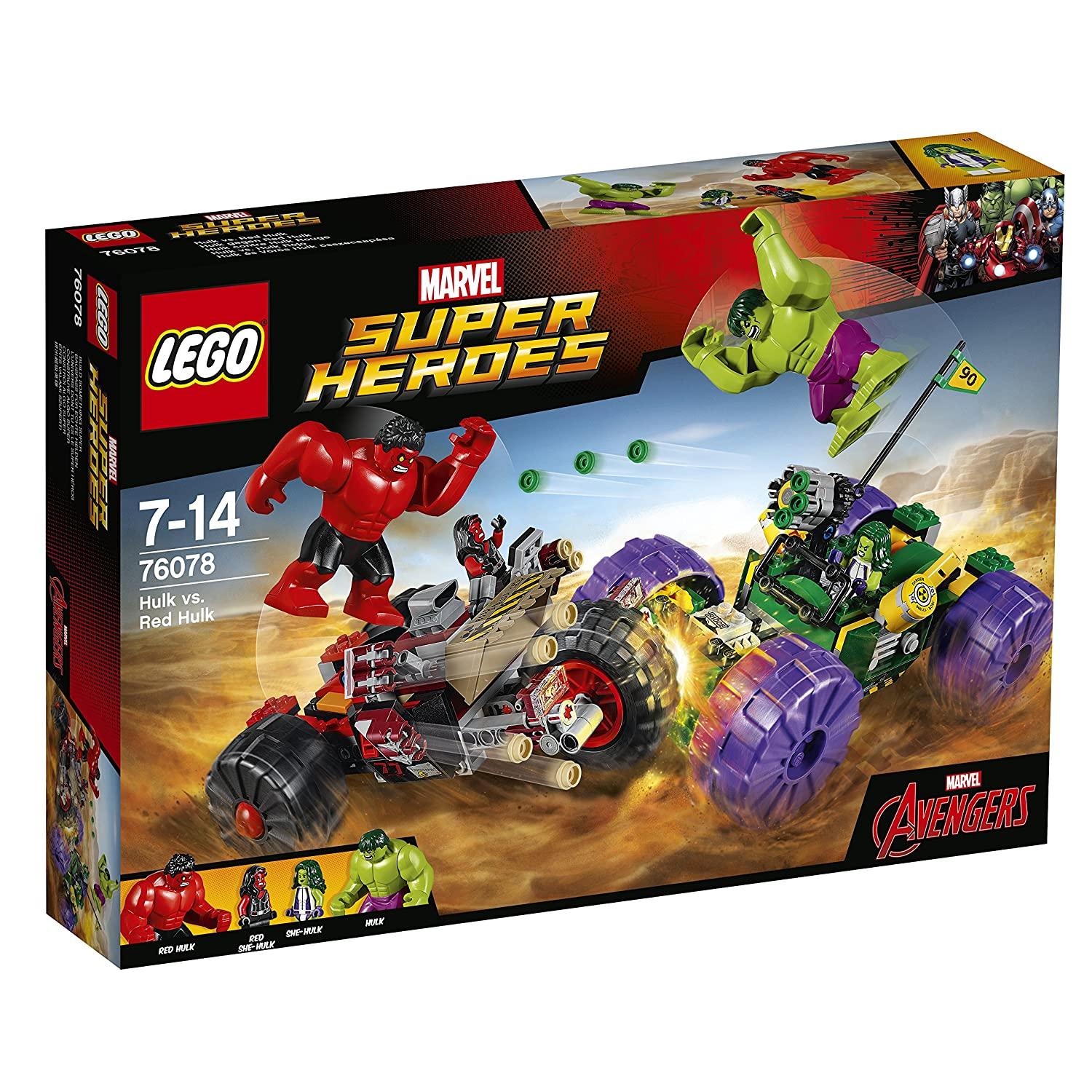 Amazon com lego super heroes hulk vs red hulk 76078 building kit toys games