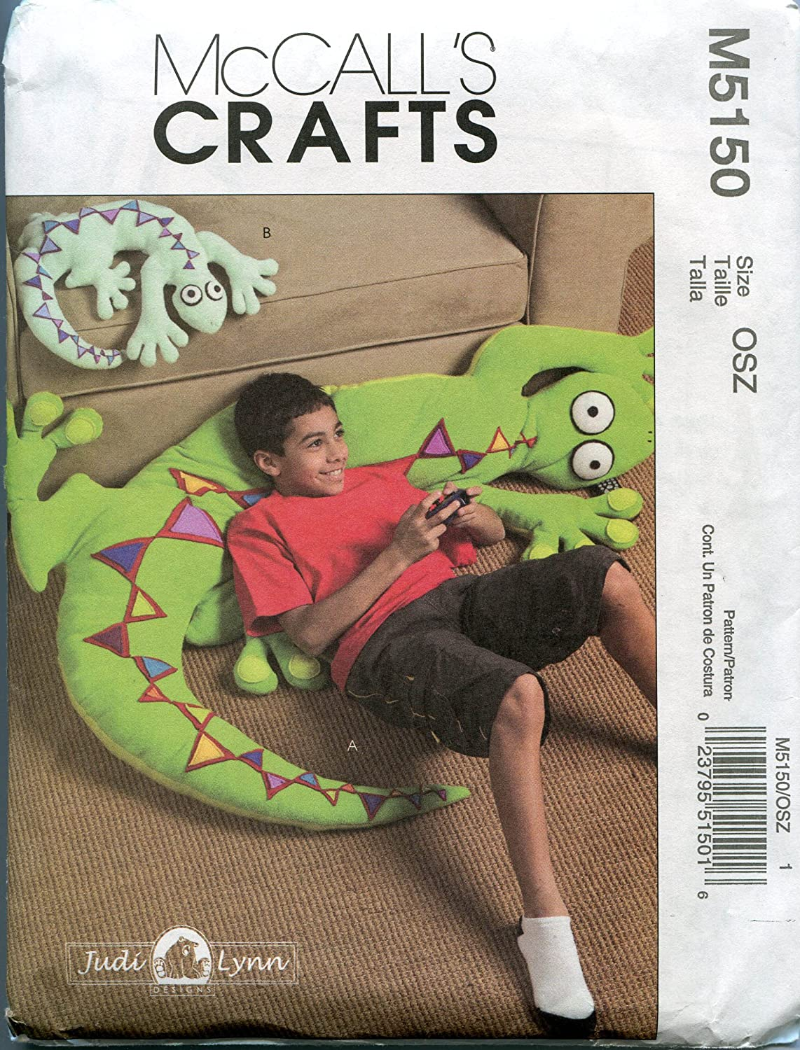 McCall's Craft Sewing Pattern M5150 Lizard Pillows in Two Sizes   B000L5NG32