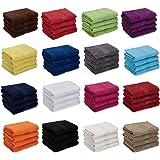 4er Pack zum Sparpreis, Frottier Handtuch-Serie - in 7 Größen und 16 Farben 100% Baumwolle 500 g/m², 4er Pack Handtücher (50x100 cm) in Schokobraun