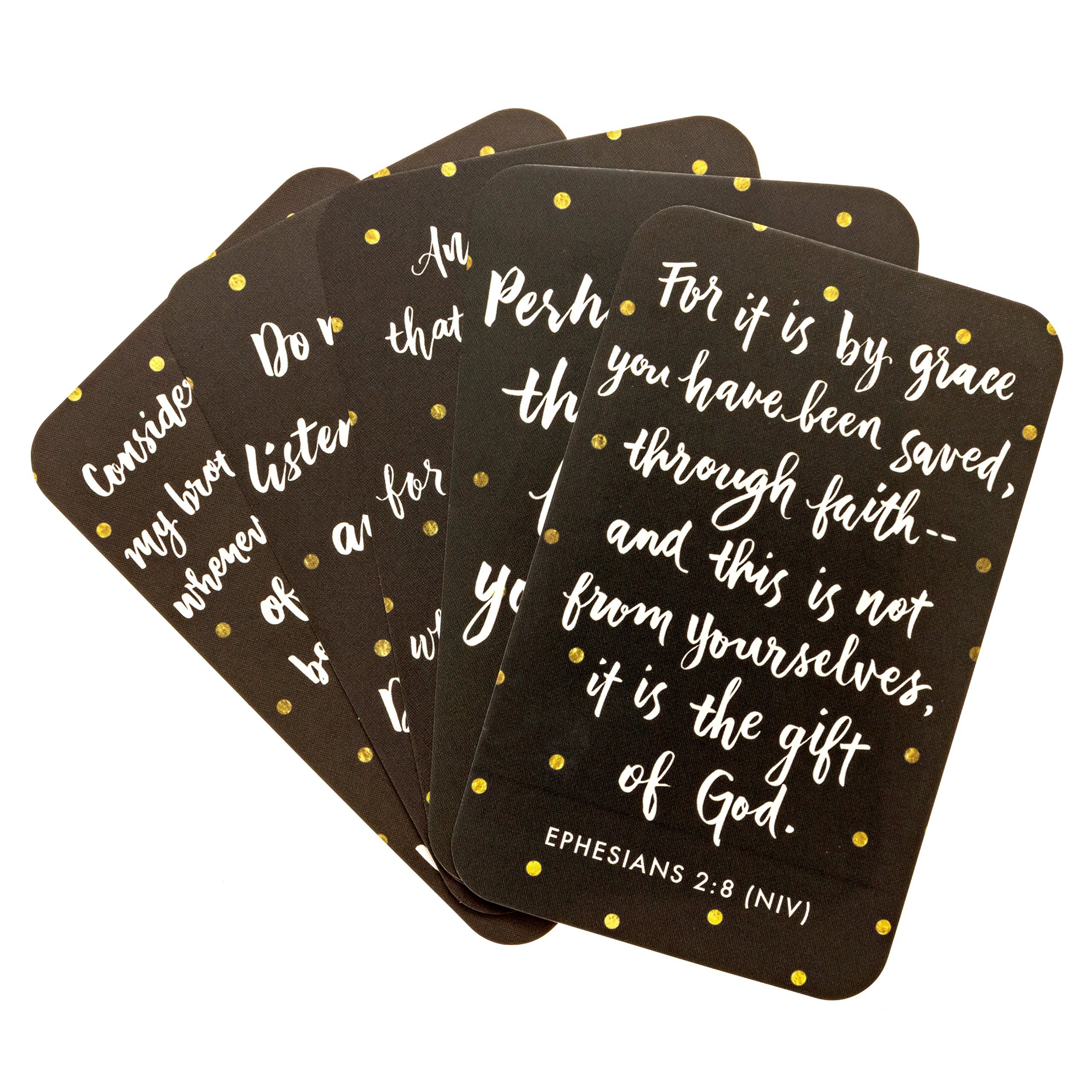 JennyM | Verses to Live By - 25 Bible Verses Inspirational Prayer Cards, Memory Verse of the Day Scripture Cards with Keepsake Box, Boxed Inspirational Blessing Cards, Christian Gift by JennyM (Image #3)