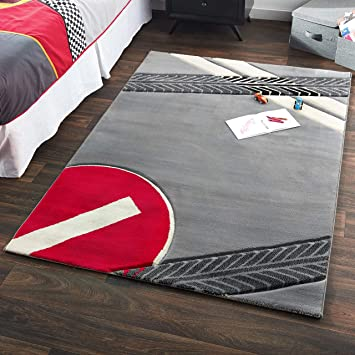 Amazon.com: CilekRace Car RugGTS Bedroom Rug Childrens Floor ...
