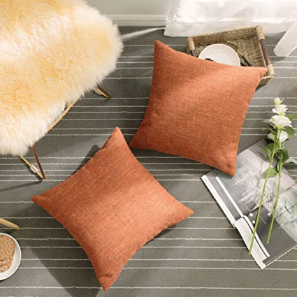 01c2b7af42a2 Amazon.com  HOME BRILLIANT Decorative Pillowcases Linen Chenille ...