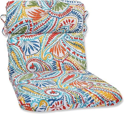 Pillow Perfect 572659 Outdoor/Indoor Ummi Round Corner Chair Cushion