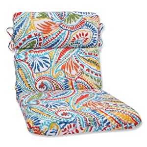 Pillow Perfect Outdoor Ummi Rounded Corners Chair Cushion, Multicolored