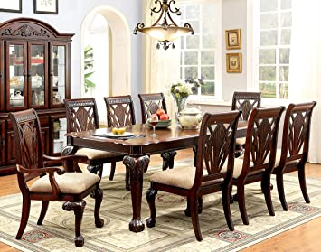 Furniture Of America Bonaventure 9 Piece Traditional Style Dining Set