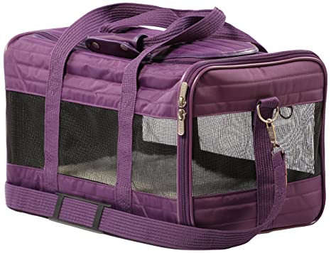 Sherpa Travel Original Deluxe Airline Approved Pet Carrier, Medium, Plum 87980803ab