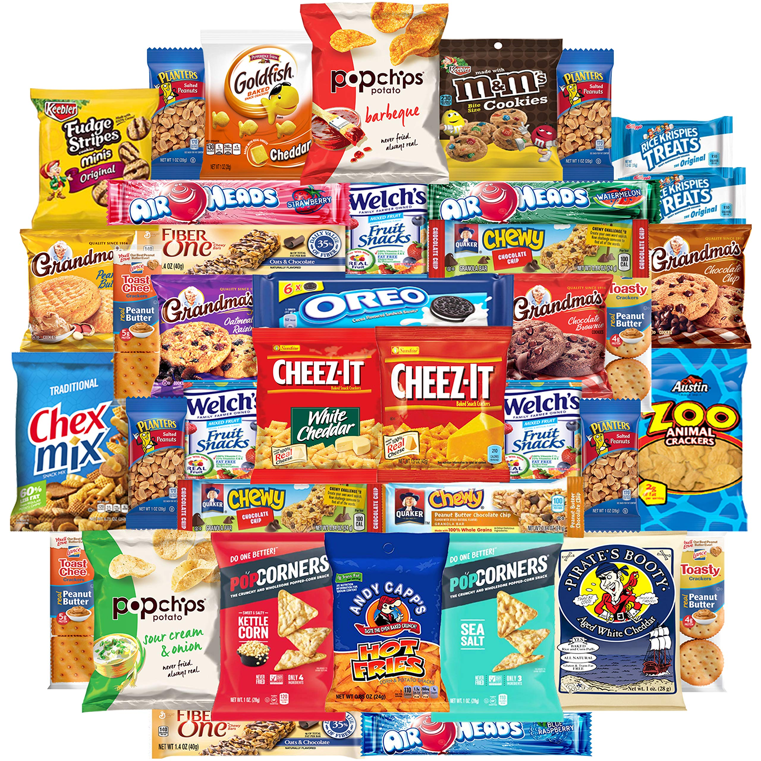 Cookies Chips & Candy Snacks Assortment Bulk Sampler by Variety Fun (Care Package 40 Count) by Custom Varietea (Image #1)