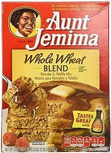 Aunt Jemima Whole Wheat Blend Pancake & Waffle Mix, 35 Oz 1 box