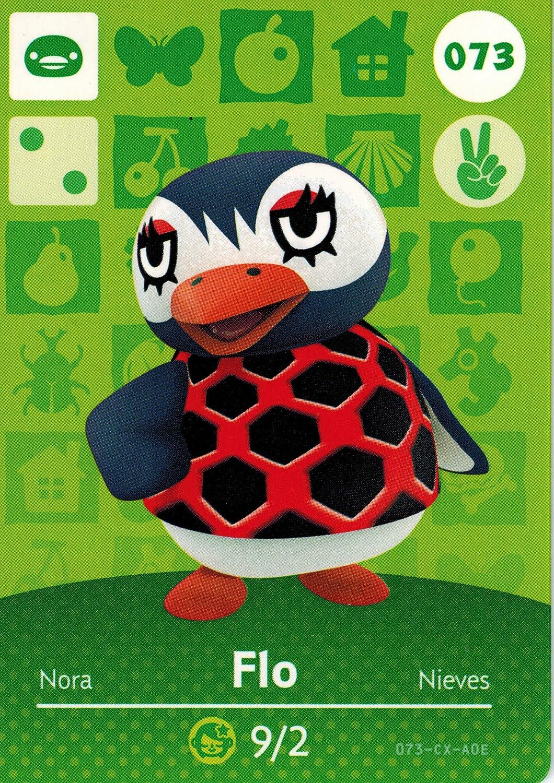 Nintendo Animal Crossing Happy Home Designer Amiibo Card Flo 073/100 USA Version