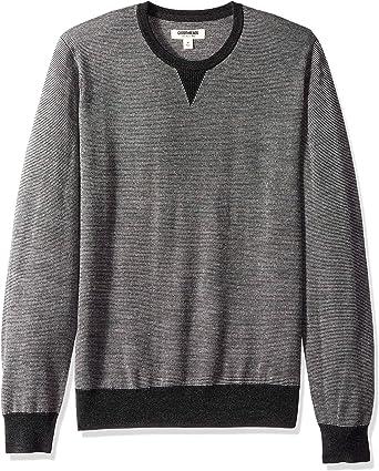 Goodthreads Mens Merino Wool V-Neck Micro Stripe Sweater Brand