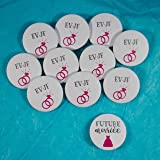 10 Badges mariage EVJF + 1 badge Future mariée