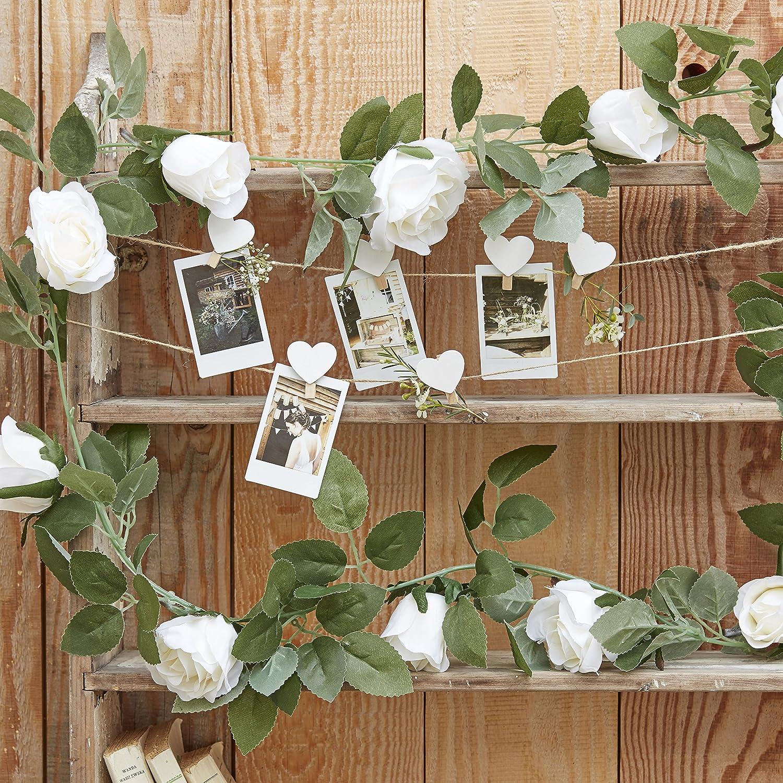 Ginger Ray mit Blumen-Hochzeit Dekoration Girlande, rustikale Land