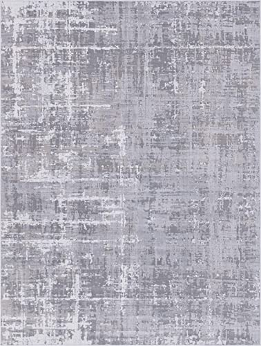 Rugs.com Valencia Collection Area Rug 9X12 Grey Low Rug Perfect for Living Rooms, Large Dining Rooms, Open Floorplans