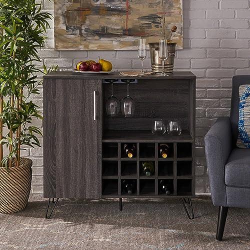 Christopher Knight Home 303304 Lochner Cabinet, Sonoma Grey Oak Black