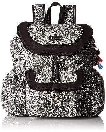 Sakroots Artist Circle Flap Backpack, Black/White Spirit Desert, One Size