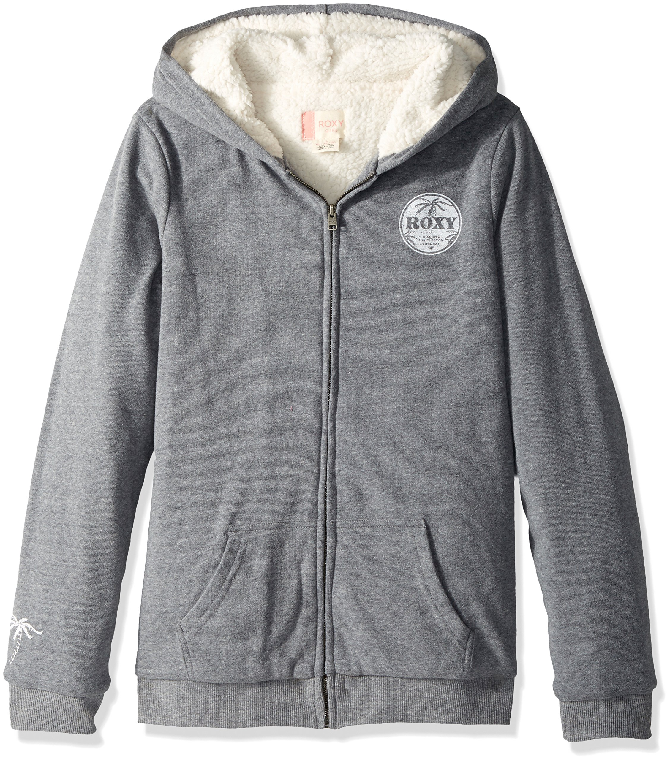 Roxy Big Girls' Memorize Density Hoodie, Charcoal Heather, 14/XL by Roxy (Image #1)
