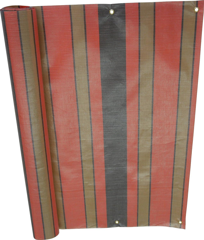 Angerer Balcony screen Design Uni Orange PE, 75 cm, length: 6 meters 3322/1005_600