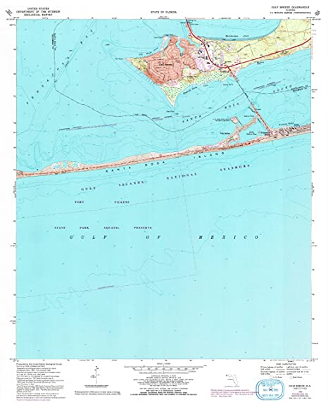 Map Gulf Breeze Florida.Amazon Com Yellowmaps Gulf Breeze Fl Topo Map 1 24000 Scale 7 5