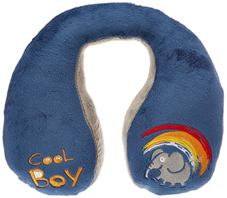 Walser 30757 Cool Boy Nackenhörnchen, Nackenkissen Kinder, Reisekissen, blau