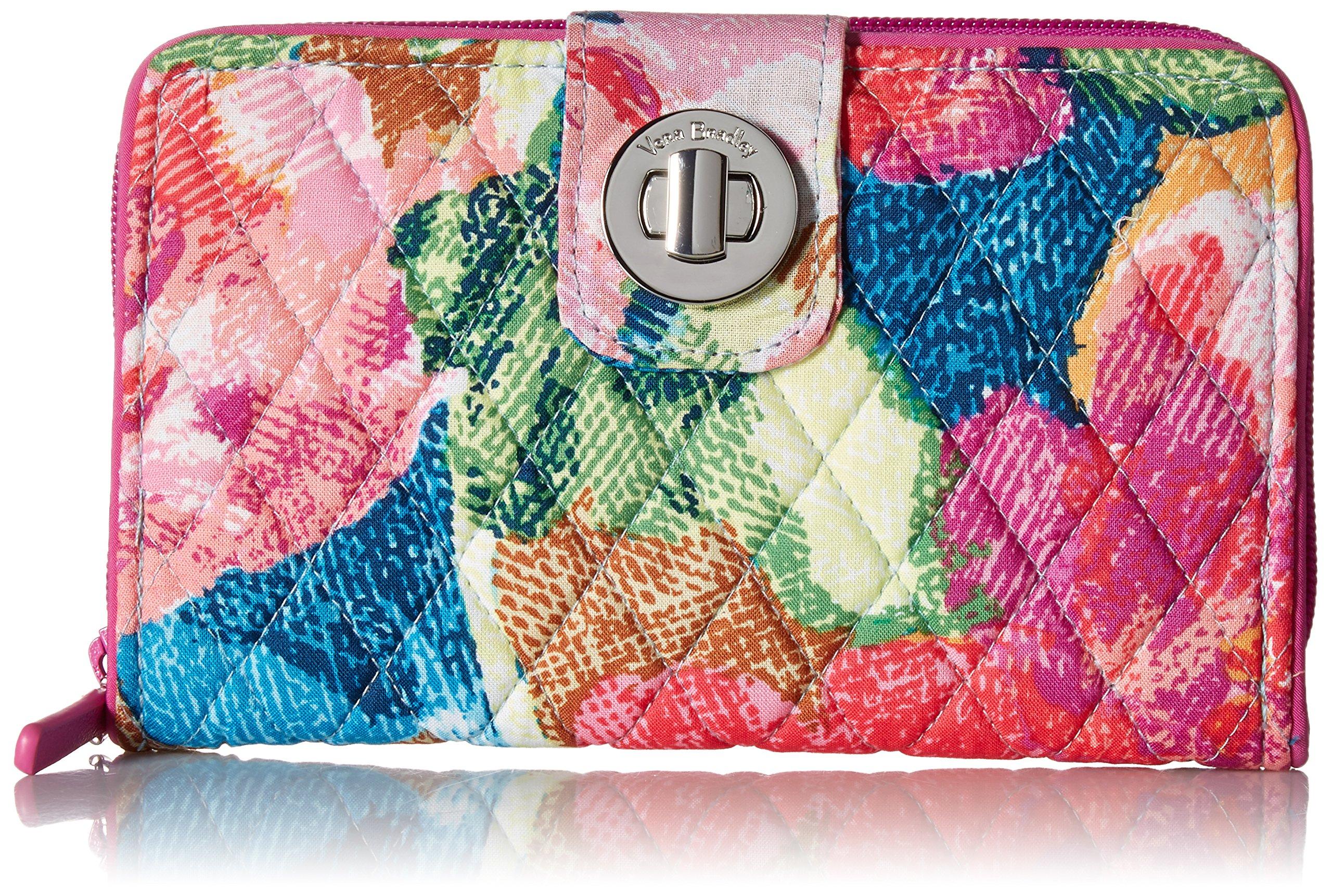 Vera Bradley RFID Turnlock Wallet, Signature Cotton, Superbloom
