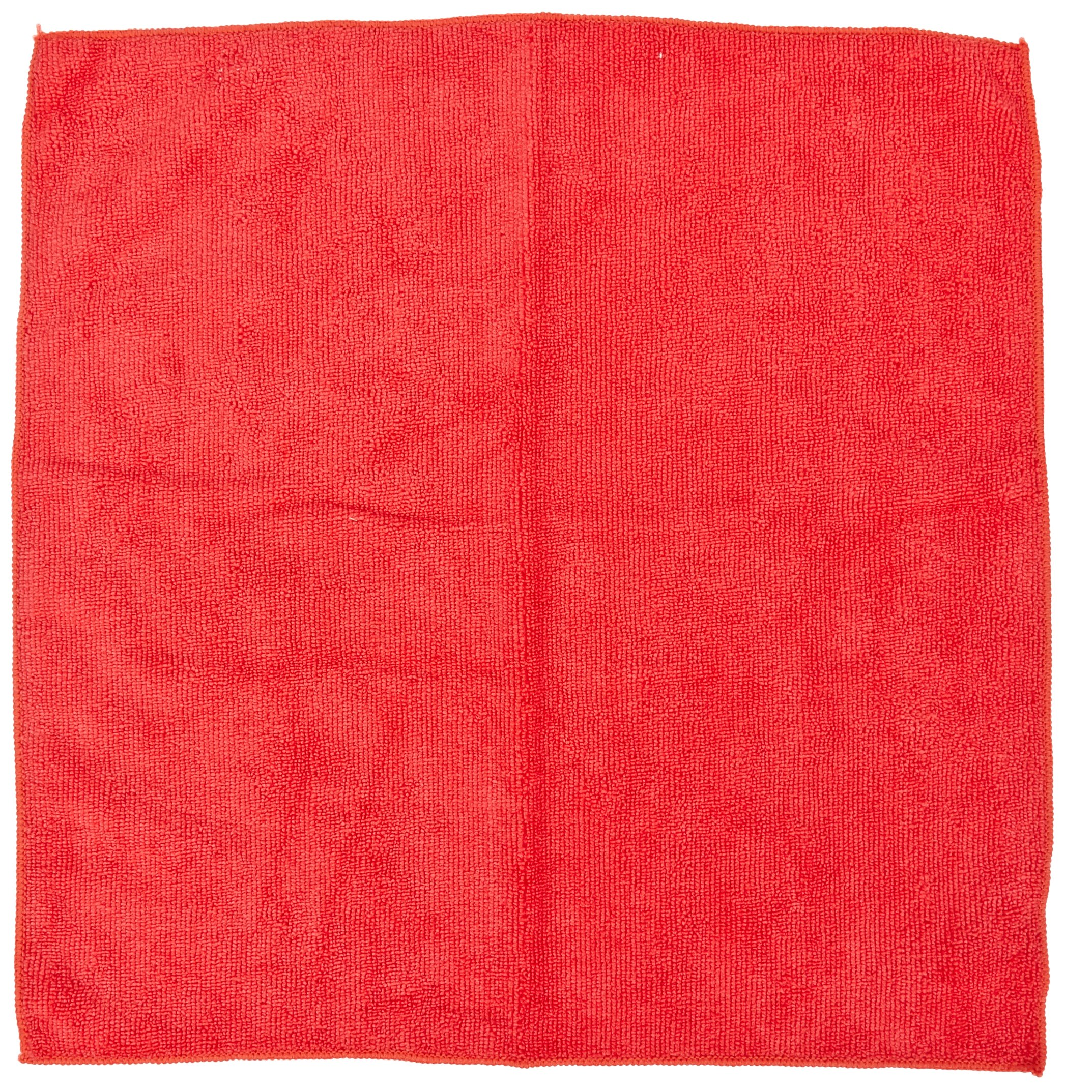 Impact LFK450 Microfiber All-Purpose Cloth, 16'' Length x 16'' Width, Red (15 Bags of 12)