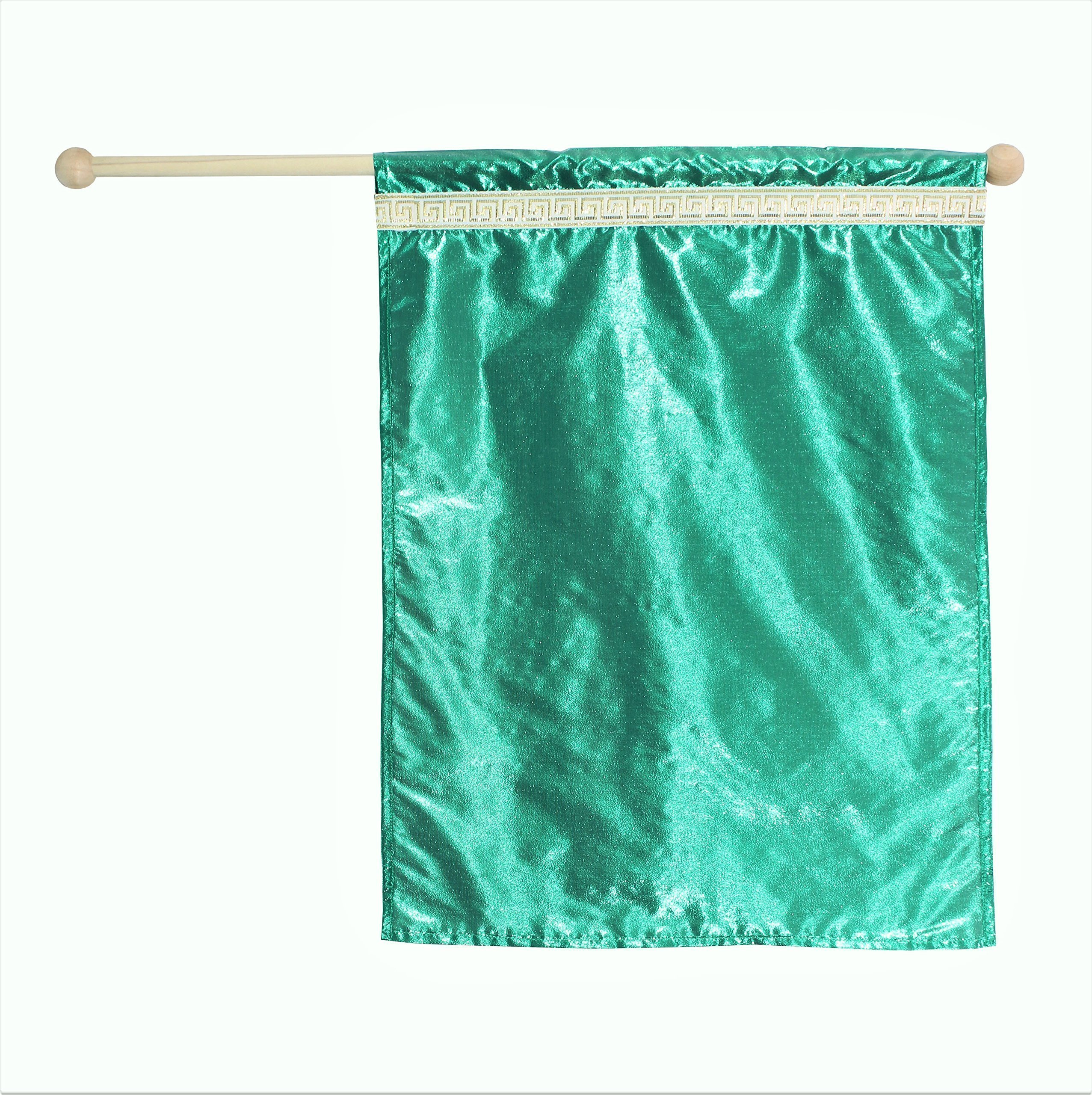 Green Flag, Dance, Praise and Worship Flag, Child Size
