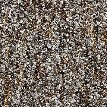 300 Teppichboden Auslegware Meterware Schlinge meliert beige braun 200 400 und 500 cm breit verschiedene L/ängen