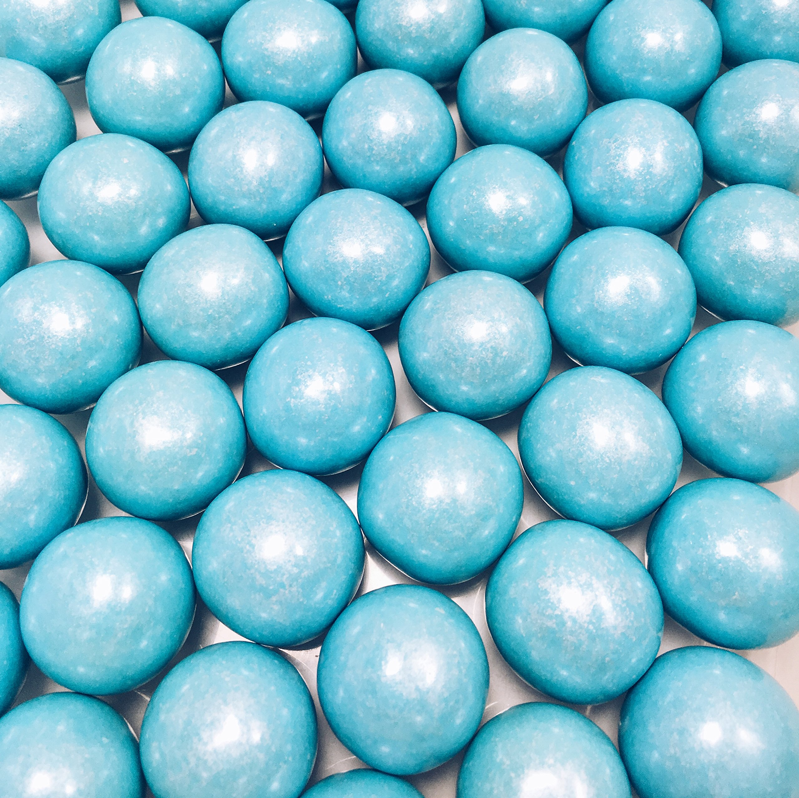 Large 1 Light Blue Shimmer Gumballs - 2 Pound Bags - About 120 Gumballs Per Bag - Includes How to Build a Candy Buffet Guide