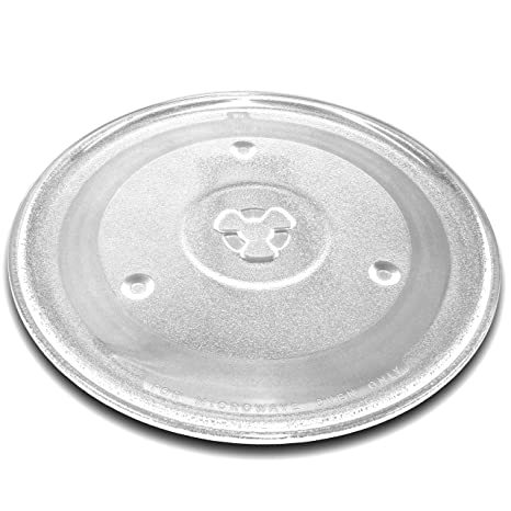 vhbw Plato de microondas de cristal de 27 cm con soporte en Y para microondas von Bosch, Siemens, AEG, Severin, Panasonic, Samsung, Clatronic.