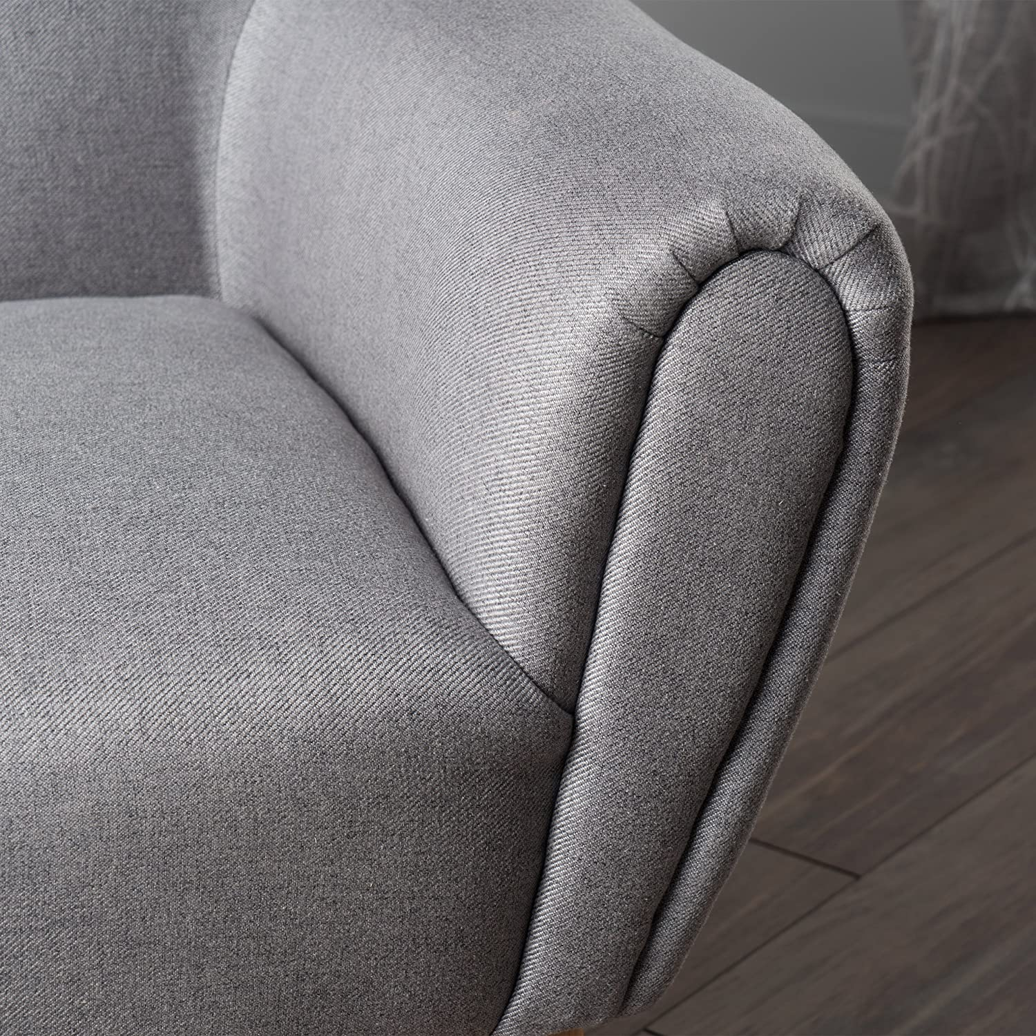 Christopher Knight Home 300227 Eliza Fabric Arm Chair Grey