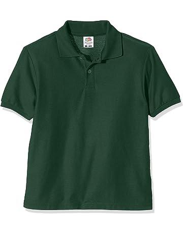 642a6769 Fruit of the Loom Unisex Kids 65/35 Short Sleeve Polo Shirt