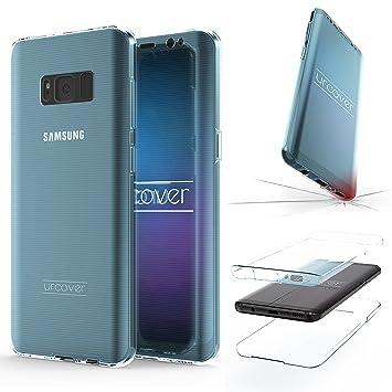 Urcover® Funda Compatible con Samsung Galaxy S8 Plus, Carcasa Protectora 360 Grados Silicona Gel en Transparente Full Body Protección Completa ...