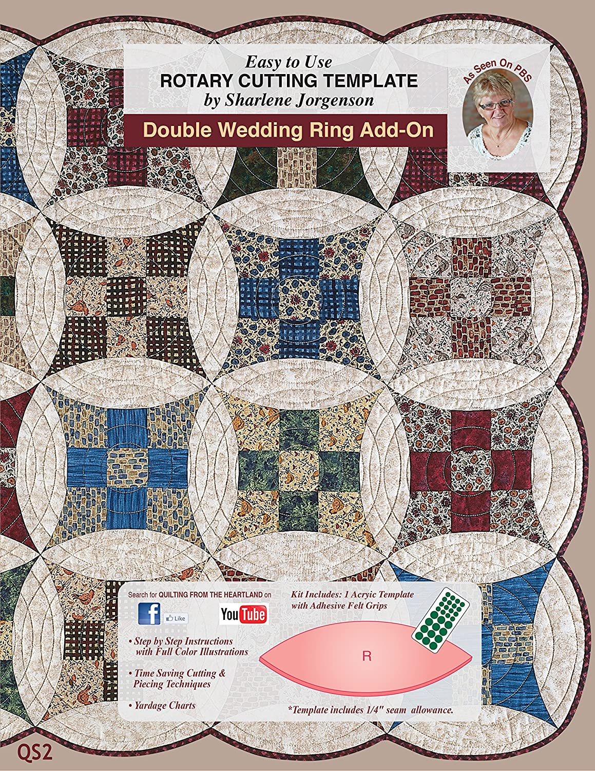 Amazon.com: Add On to the Double Wedding Ring Template by Sharlene ... : quilting from the heartland - Adamdwight.com