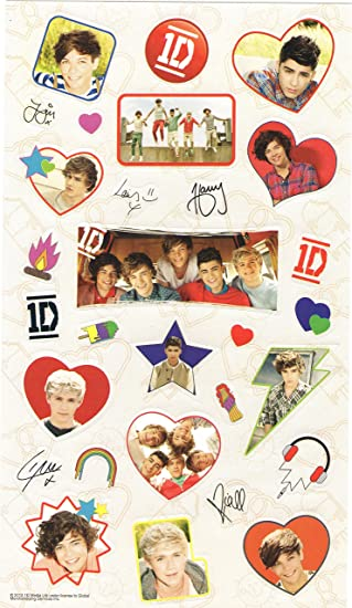 Amazon one direction 1d set of 25 full color stickers young one direction 1d set of 25 full color stickers young and fun voltagebd Choice Image