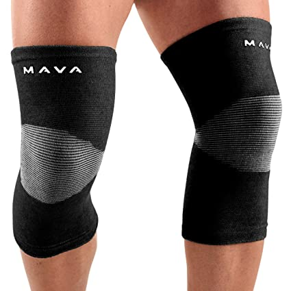 Mava Sports Knee Support Sleeves (Pair) for Joint Pain and Arthritis Relief, Improved Circulation Compression
