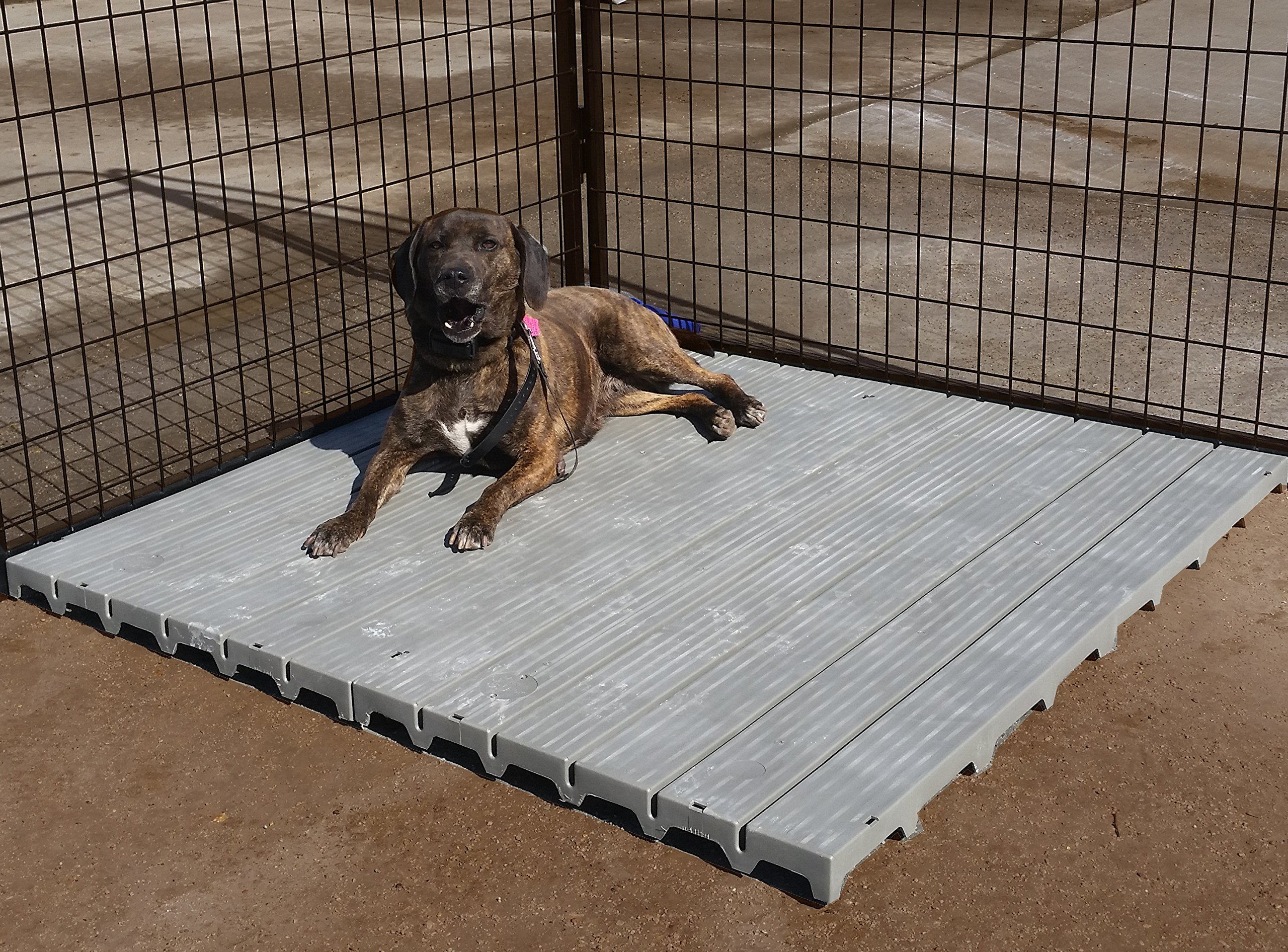 Cove Products 2' X 4' Raised Dog Kennel Comfortable Surface Flooring by Cove Products (Image #1)