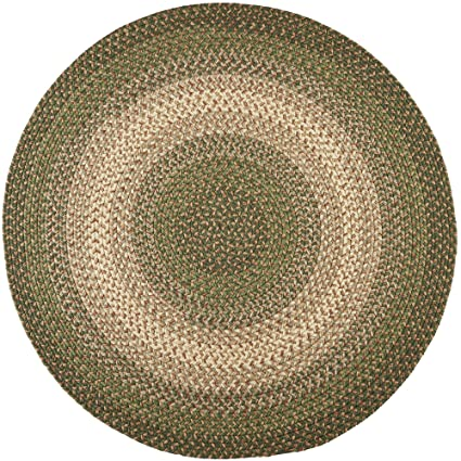 Superbe Hartford Braided Rug Indoor/Outdoor Rug Kitchen Rugs In Green Sunroom/Porch  Carpet,