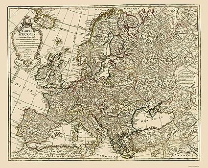 Old Europe Map Amazon.com: Old Europe Map   De Lisle 1731   23 x 28.46   Matte